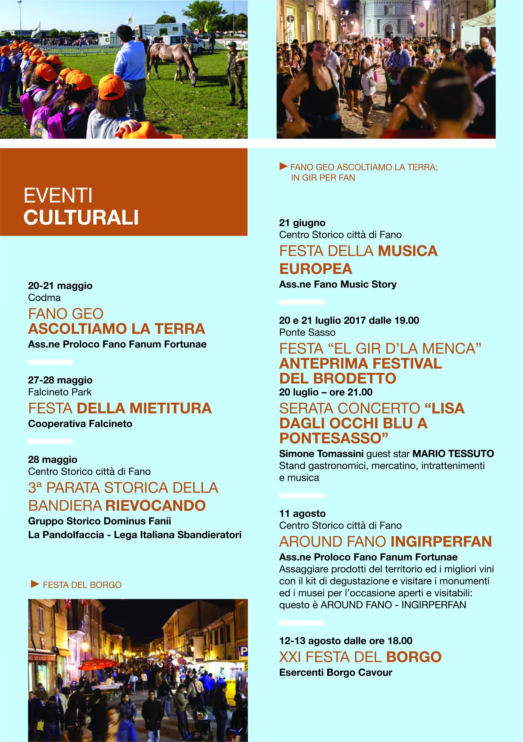 Eventi a Fano Proloco Eventi Culturali