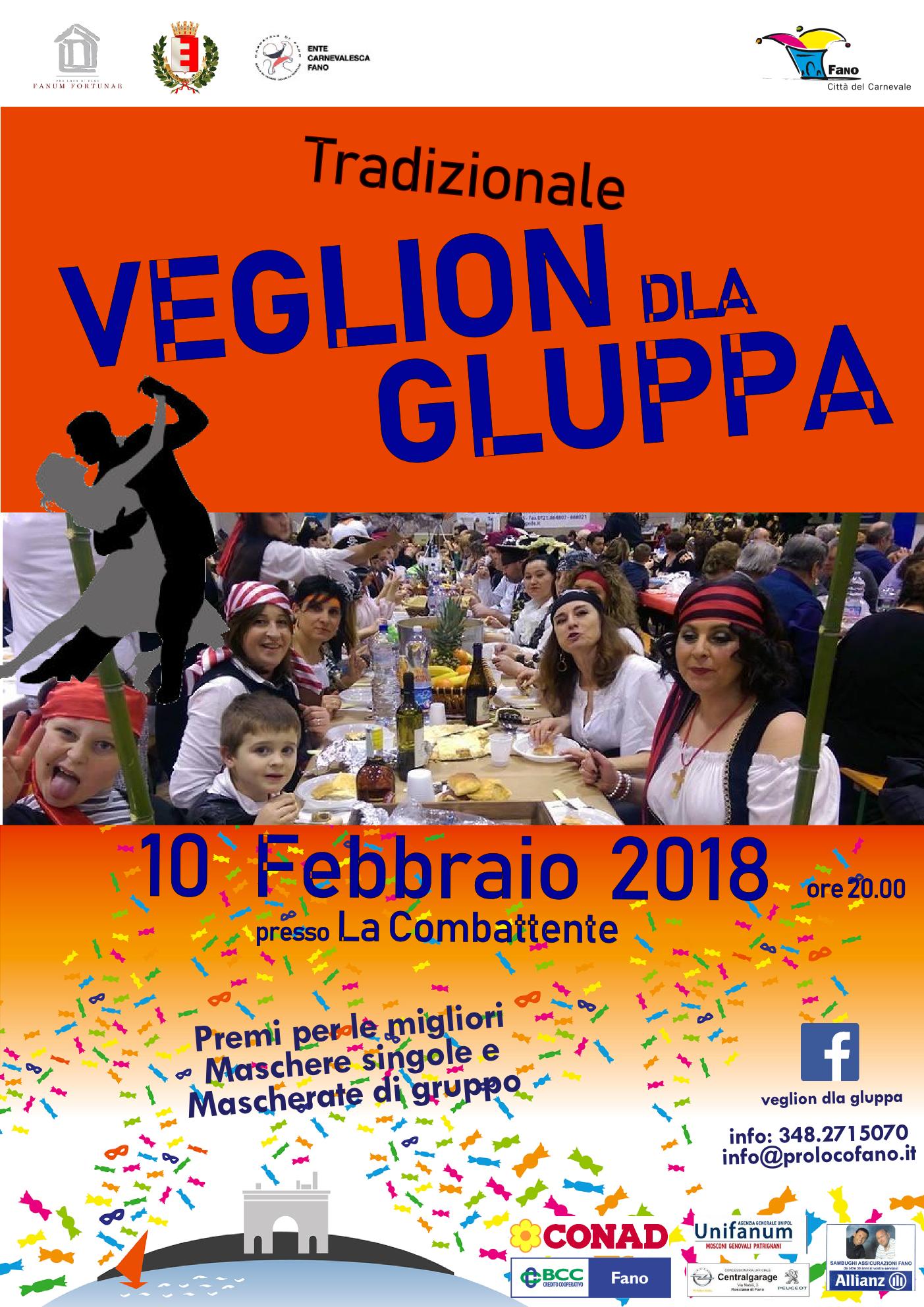 Carnevale di Fano 2018 Veglion dla gluppa